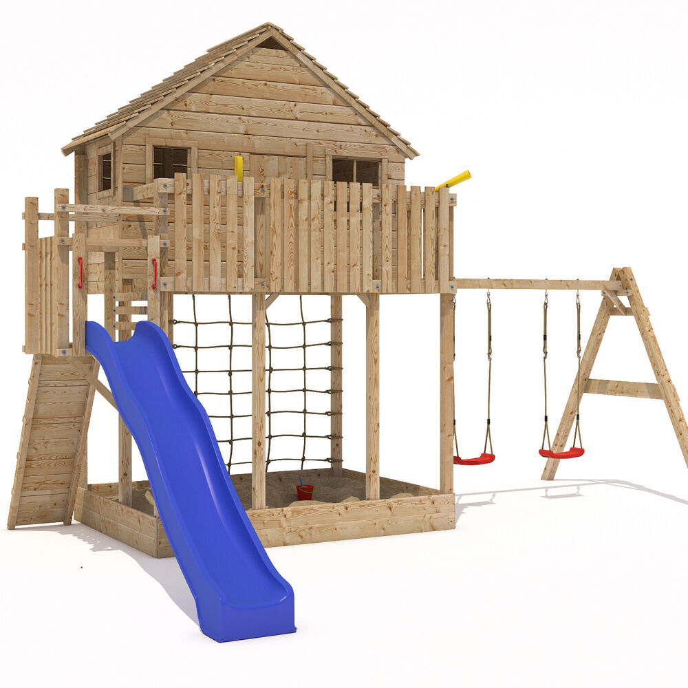 Xxl Play Tower Tree House Stilt Kids Playhouse Sandpit