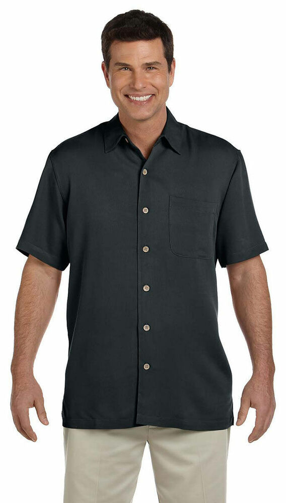 Devon Jones Men 39 S Open Hemmed Short Sleeve Isla Button