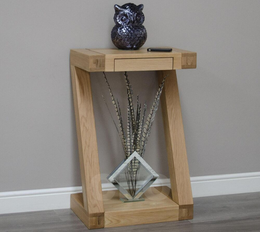 Hallway Console Table : ... solid oak designer furniture small hall console hallway table  eBay