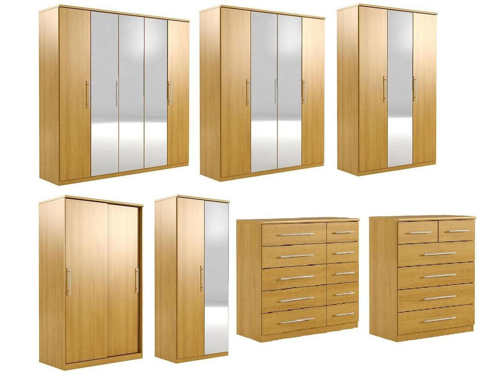 Prague Oak Effect Bedroom Furniture Wardrobes And Chest Of Drawers EBay