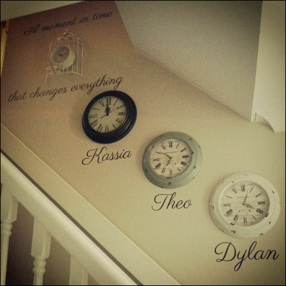 Large Wall Quote Clock A Moment In Time Changes Everything