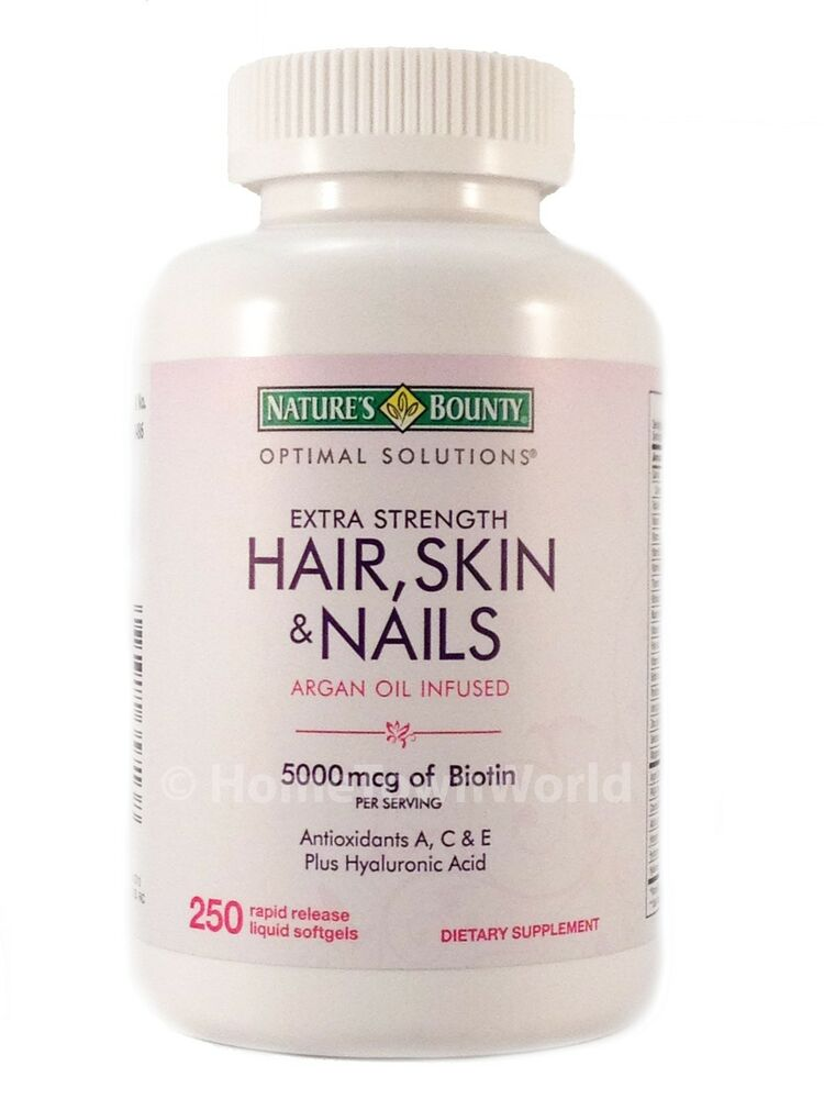 Hair Skin and Nails Nature's Bounty Vitamin 5000 mcg of ...