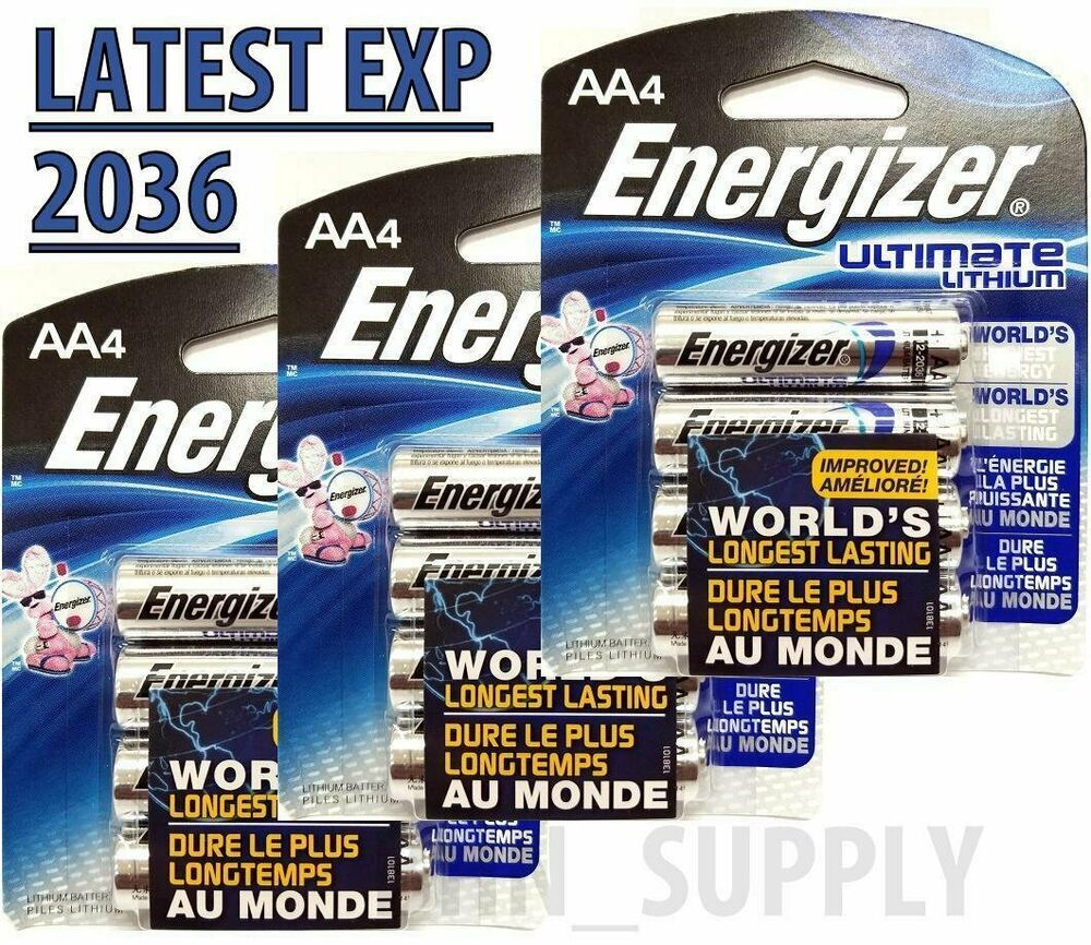 12 Energizer 9x Ultimate Lithium AA Batteries (3 X 4-Pack