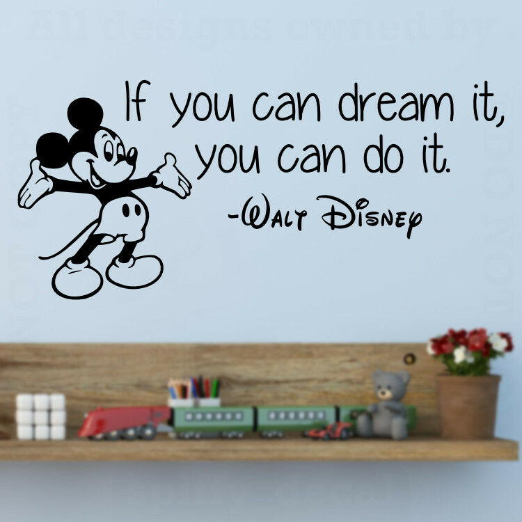 Disney Mickey If You Can Dream It Do It Wall Quote Vinyl
