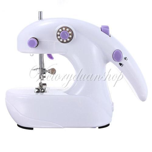 mini portable 2 in 1 sewing machine handheld desk electric battery operated new ebay. Black Bedroom Furniture Sets. Home Design Ideas