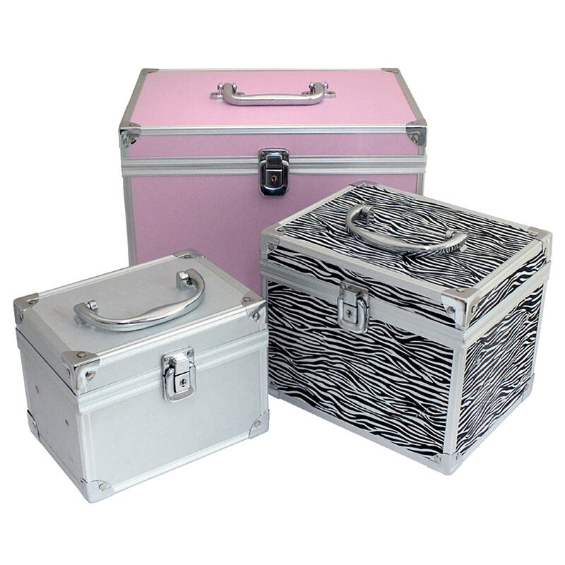 lockable aluminium make up vanity case beauty box cosmetic bag nail hair salon ebay. Black Bedroom Furniture Sets. Home Design Ideas