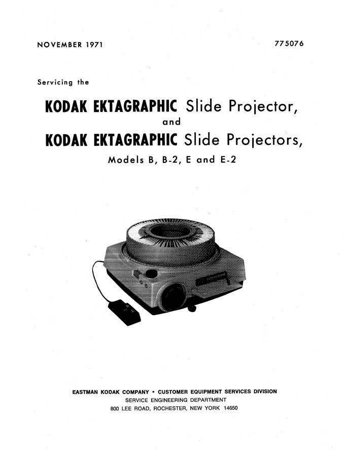 kodak slide projector repair manual