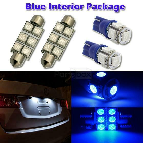 6 blue led interior light package t10 194 6411 for 2001 2011 ford ebay. Black Bedroom Furniture Sets. Home Design Ideas
