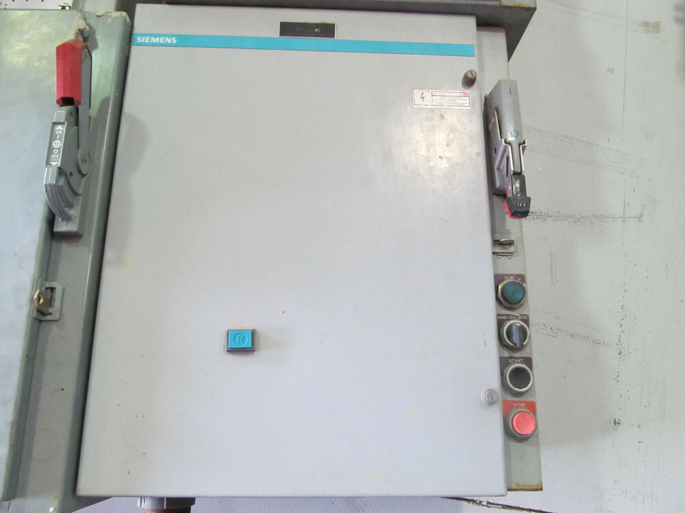 Siemens size 3 magnetic motor controller 3tf48 w overload for Sizing motor starters and overloads