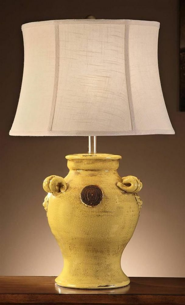 old world tuscan dijano yellow ceramic table lamp toscano. Black Bedroom Furniture Sets. Home Design Ideas