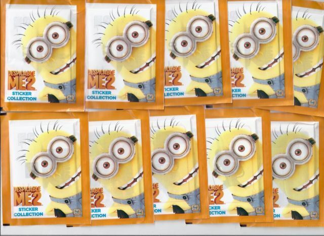 despicable me 2 sticker album collection 50 packets of stickers full box ebay. Black Bedroom Furniture Sets. Home Design Ideas