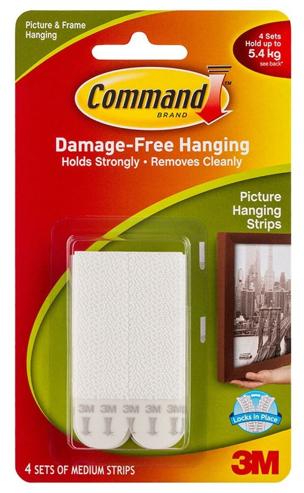 3m Command Medium Hanging Strips 17201 Picture Print Frame