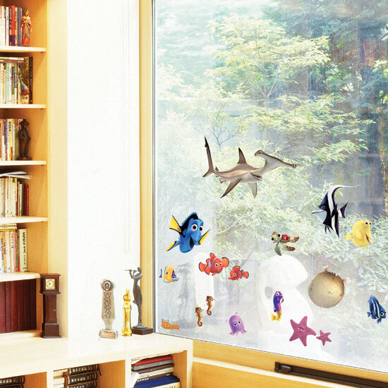Finding Nemo Wall Stickers Kids Rooms Decor Cartoon Large
