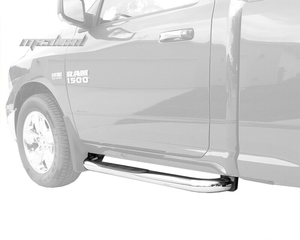 "New 3"" Stainless Steel Step Nerf Bars For Dodge Ram 1500"