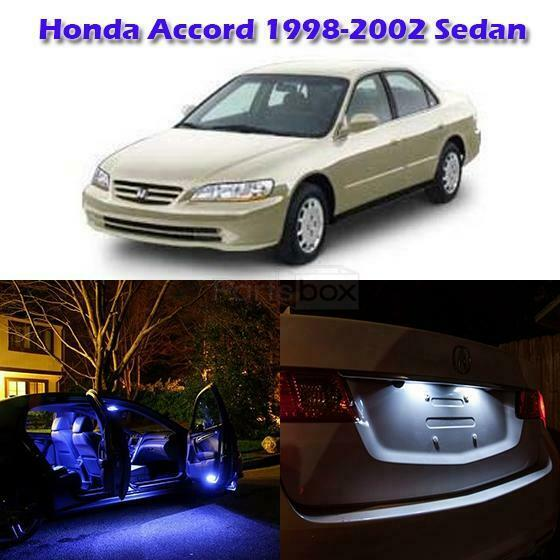 for honda accord 1998 2002 sedan blue interior light package kit led lamp tool ebay. Black Bedroom Furniture Sets. Home Design Ideas