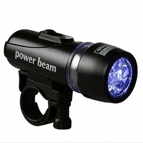 new power beam super bright led flash light for bicycle with mounting access ebay. Black Bedroom Furniture Sets. Home Design Ideas