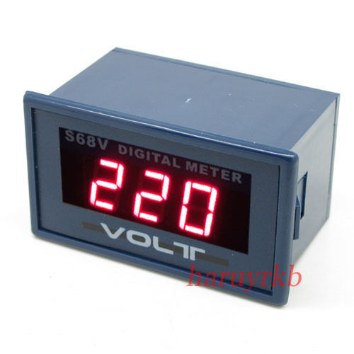 L De Voltage Meter : Ac v digital blue led voltage meter voltmeter panel