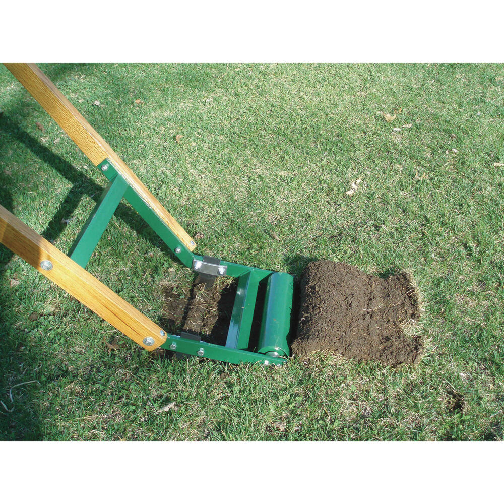 Quail manual kick type sod cutter edger kt ebay for Lawn and garden tools for sale