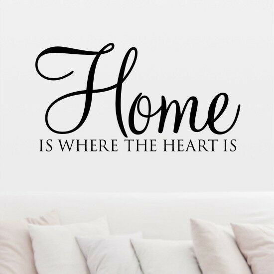 wall art sticker home is where the heart h562k ebay. Black Bedroom Furniture Sets. Home Design Ideas