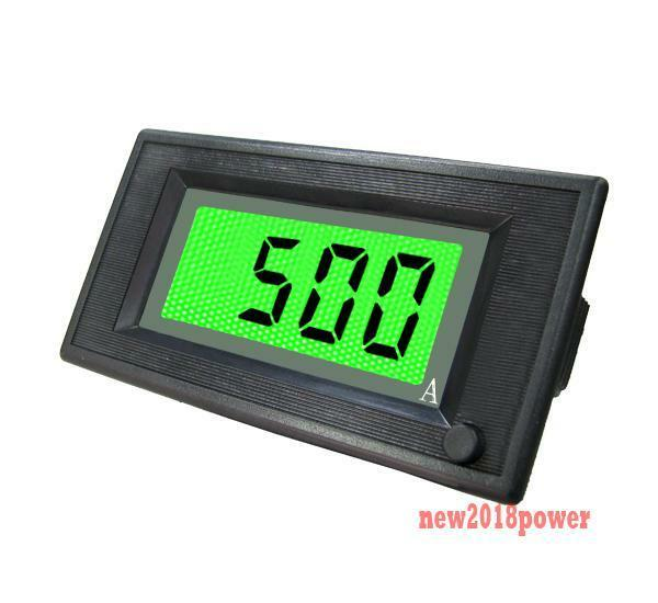 Panel Amperage Meters : On off dc a green lcd digital ammeter current panel