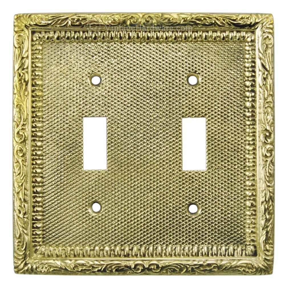 Light Switch Plate Cover: Victorian Recreated Double Toggle Light Switch Plate Cover