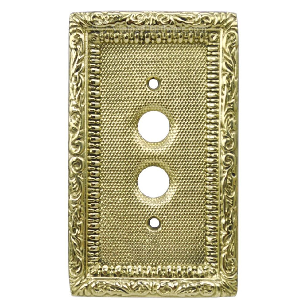 Victorian Single Gang Push Button Switch Plate Cover L W7