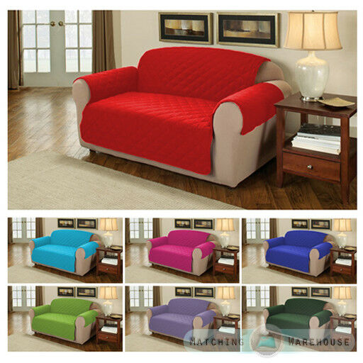 Furniture Protector Quilted Cotton Twill Sofa / Armchair