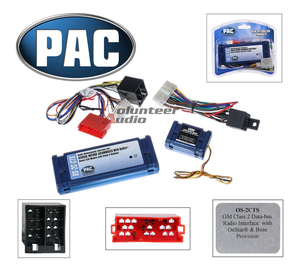 pac os 2c cts onstar radio replacement wiring interface harness cadillac cts srx ebay