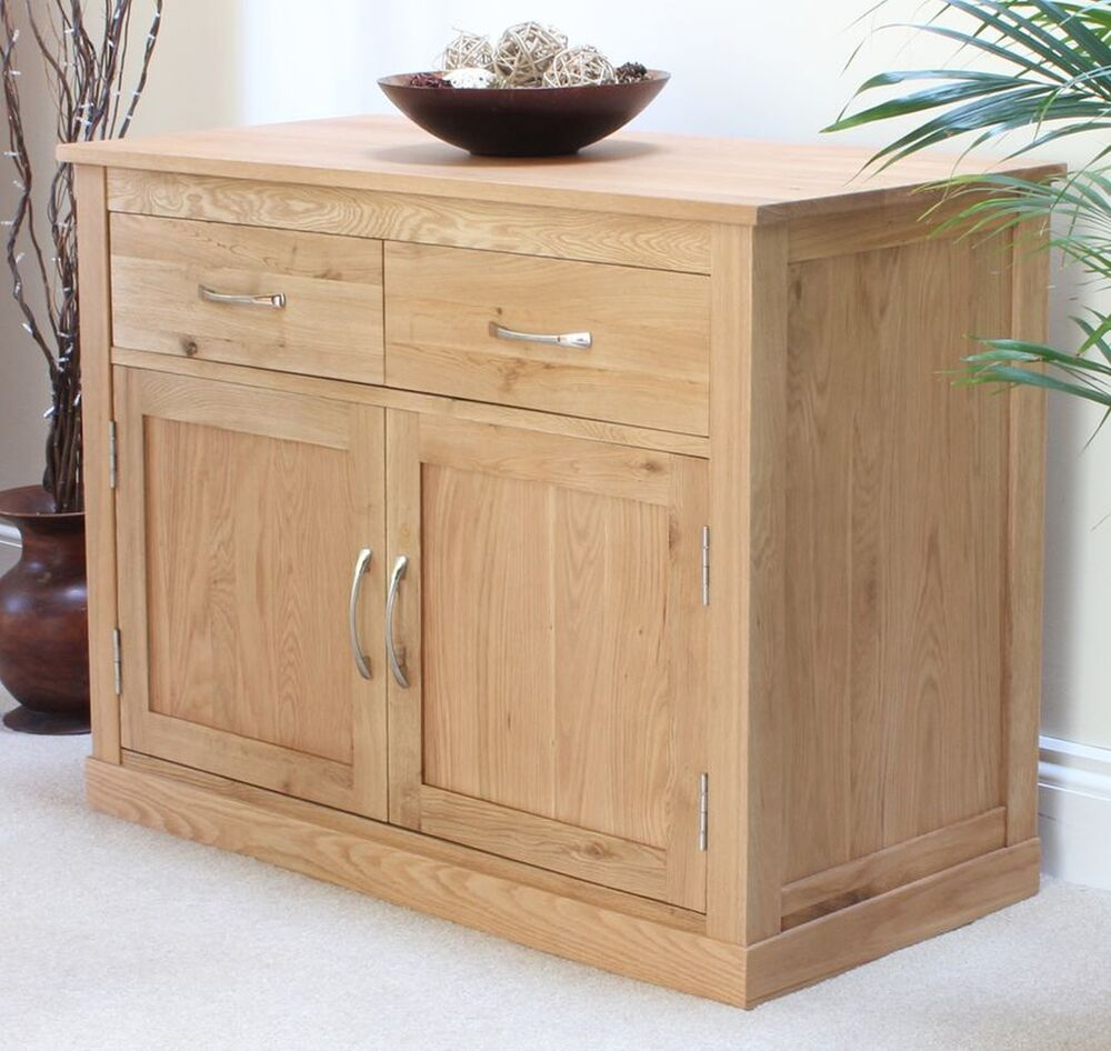 mobel small sideboard solid oak living dining room furniture ebay