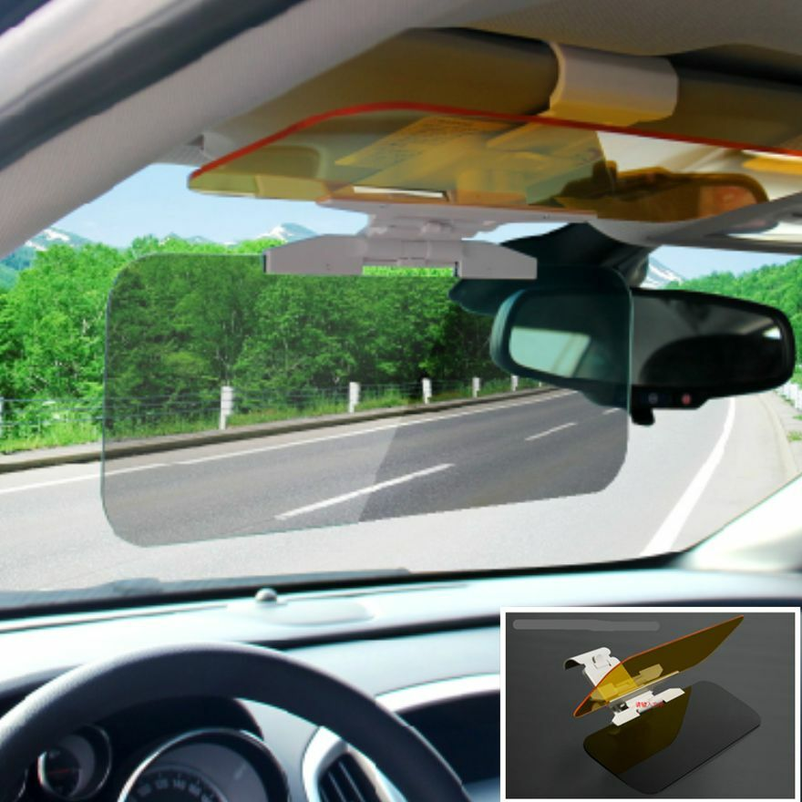 auto sun visor clip sunshade goggles cover day and night anti dazzle mirror kits ebay. Black Bedroom Furniture Sets. Home Design Ideas