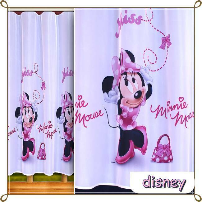 sen senschal disney gardine kinderzimmer minnie maus mouse micky mickey ebay. Black Bedroom Furniture Sets. Home Design Ideas
