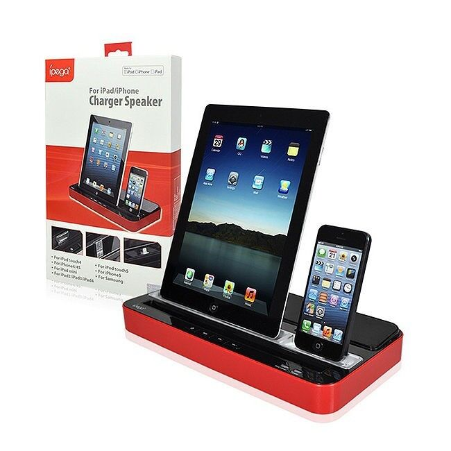 ipega charger speaker dual dock station iphone 5s 5 4s 4. Black Bedroom Furniture Sets. Home Design Ideas