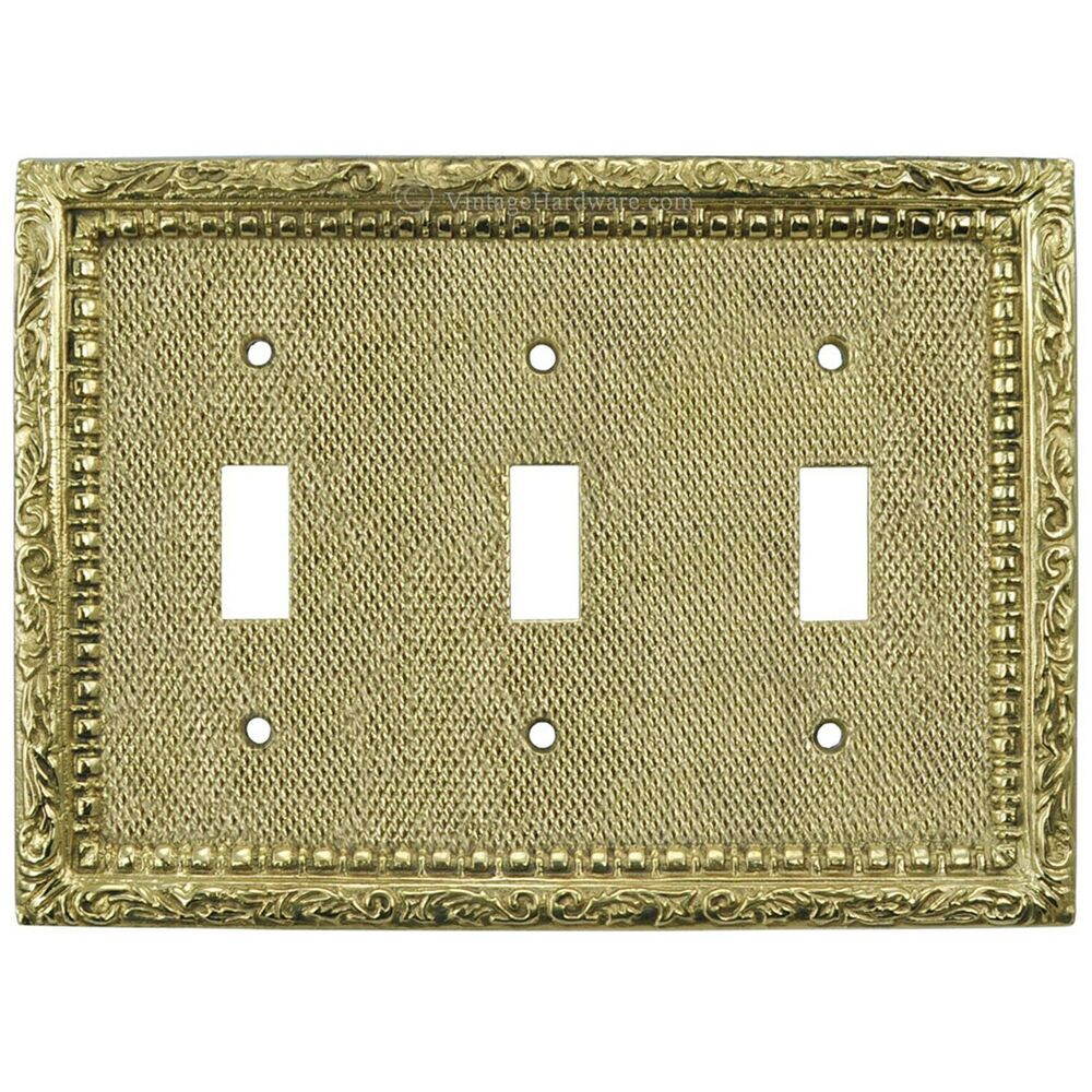 Victorian Antique Replica Triple Gang 3 Light Switch