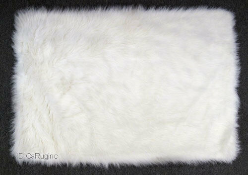 Shaggy Fluffy Flokati Rug Shag Solid White 3 Inch Thick