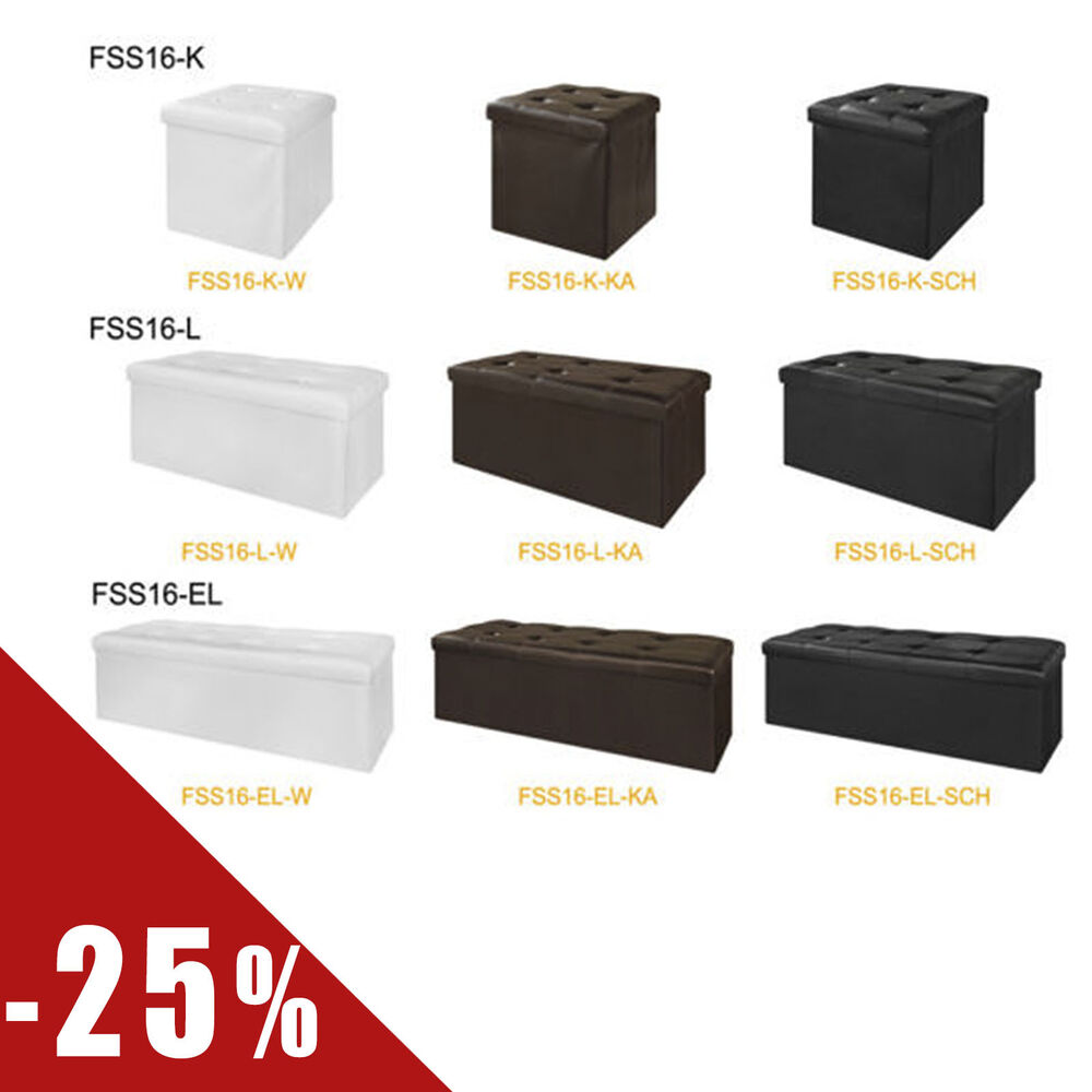 sobuy coffre de rangement cube pouf d pliable tabouret fss16 fr ebay. Black Bedroom Furniture Sets. Home Design Ideas