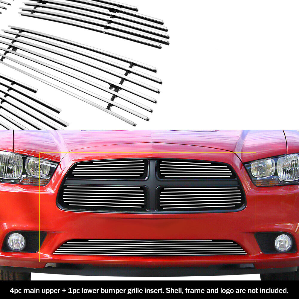 custom fits 2011 2012 dodge charger billet grill combo ebay. Black Bedroom Furniture Sets. Home Design Ideas