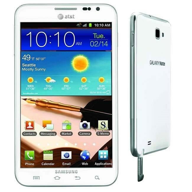 unlocked at t samsung galaxy note sgh i717 16gb white 4g lte android smartphone 635753497496 ebay. Black Bedroom Furniture Sets. Home Design Ideas