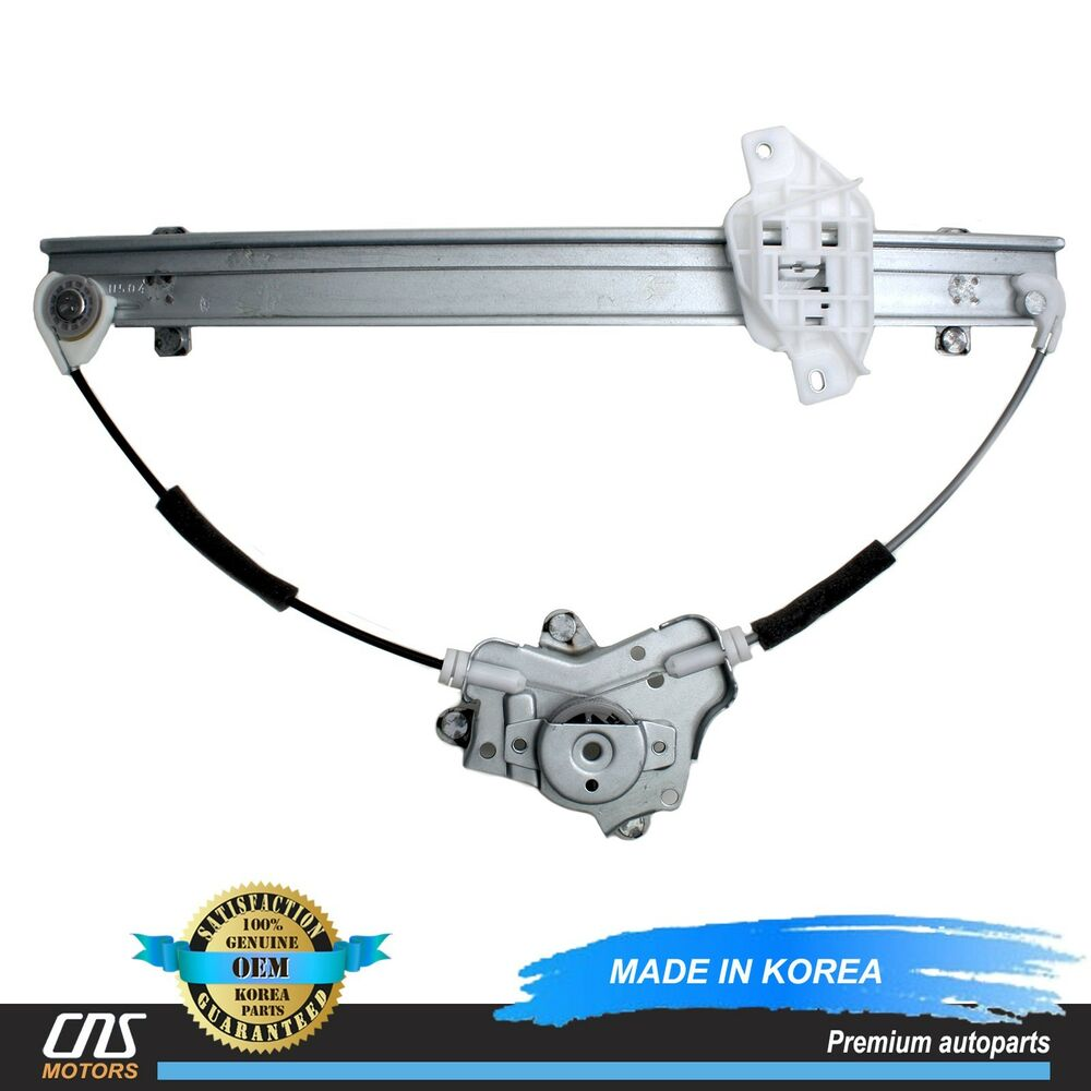 Genuine window regulator front driver fits 96 00 elantra for 2000 hyundai elantra window regulator