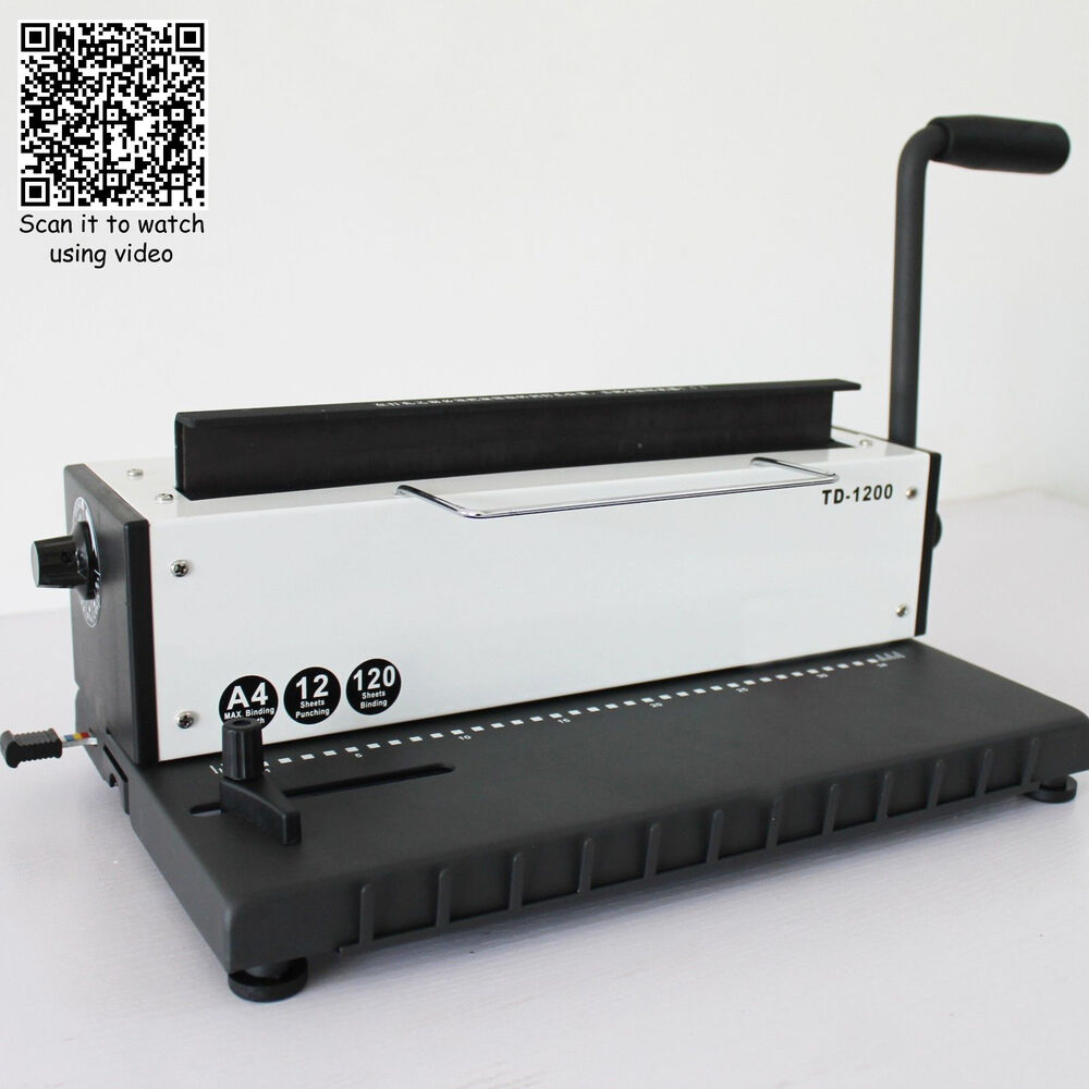 34Holes Punching Binding Machine All Steel Metal Spiral