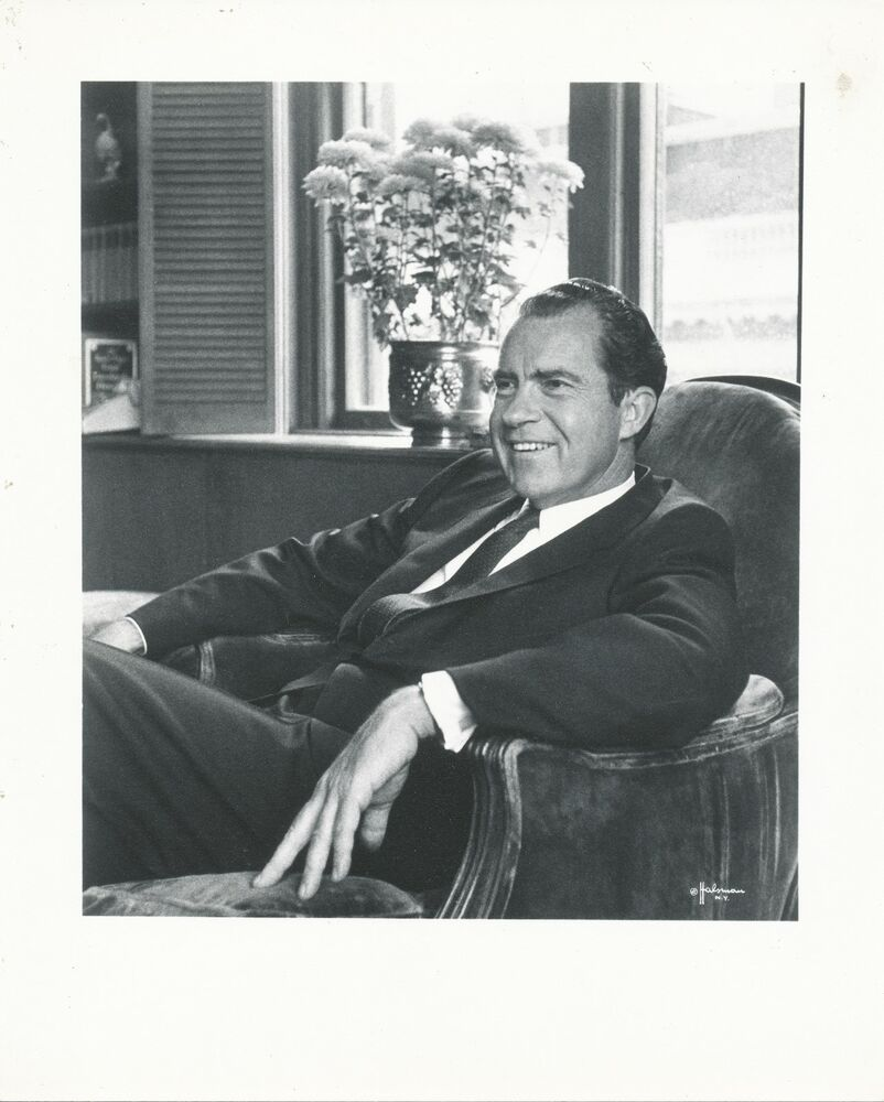 Richard Nixon Watchmen: 1970's Vintage Photograph Richard Nixon By Philippe