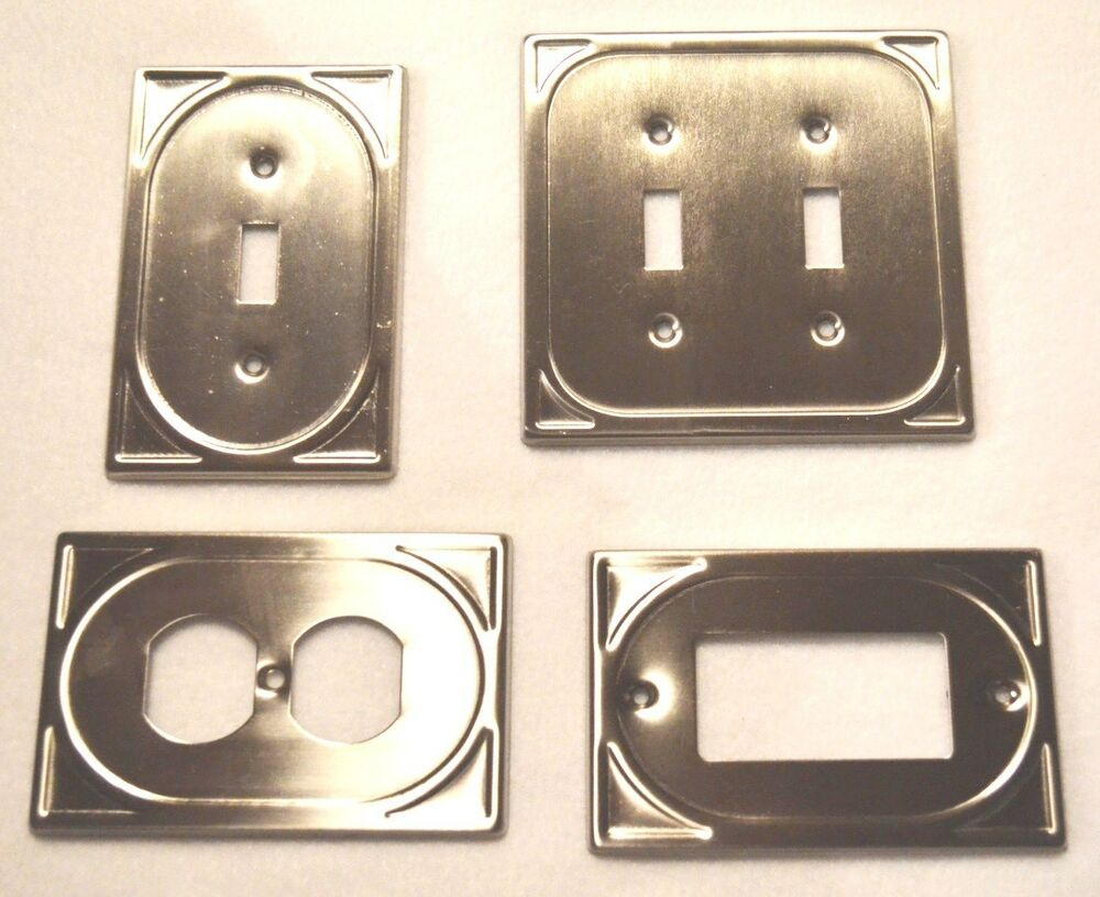 Metal Wall Plate Single Double Switch Duplex Outlet Cover