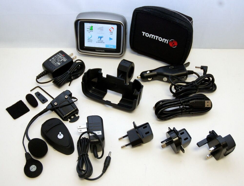 tomtom rider 2 2nd gps motorcycle w zk bike set us canada europe map software ebay. Black Bedroom Furniture Sets. Home Design Ideas