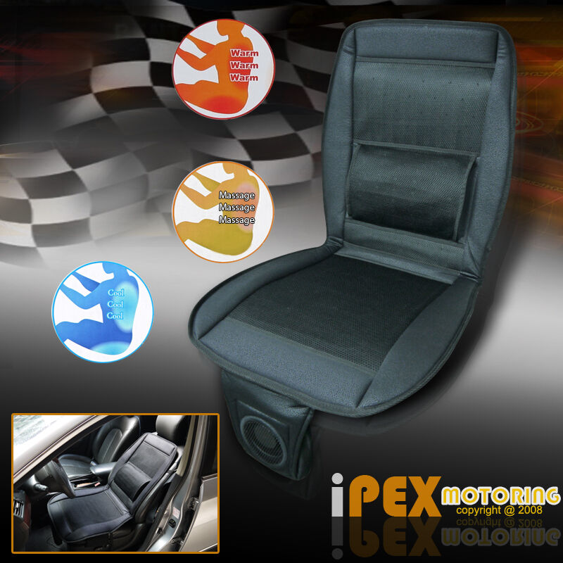 all weather 3 in 1 auto car seat cover cushion w cooling warm heated massage ebay. Black Bedroom Furniture Sets. Home Design Ideas