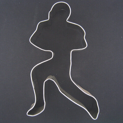 football cookie cutter template - football player 5 metal cookie cutter birthday fall boy