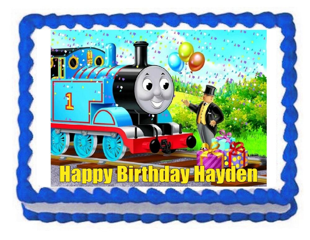 Thomas And Friends Train Edible Cake Image Frosting Sheet