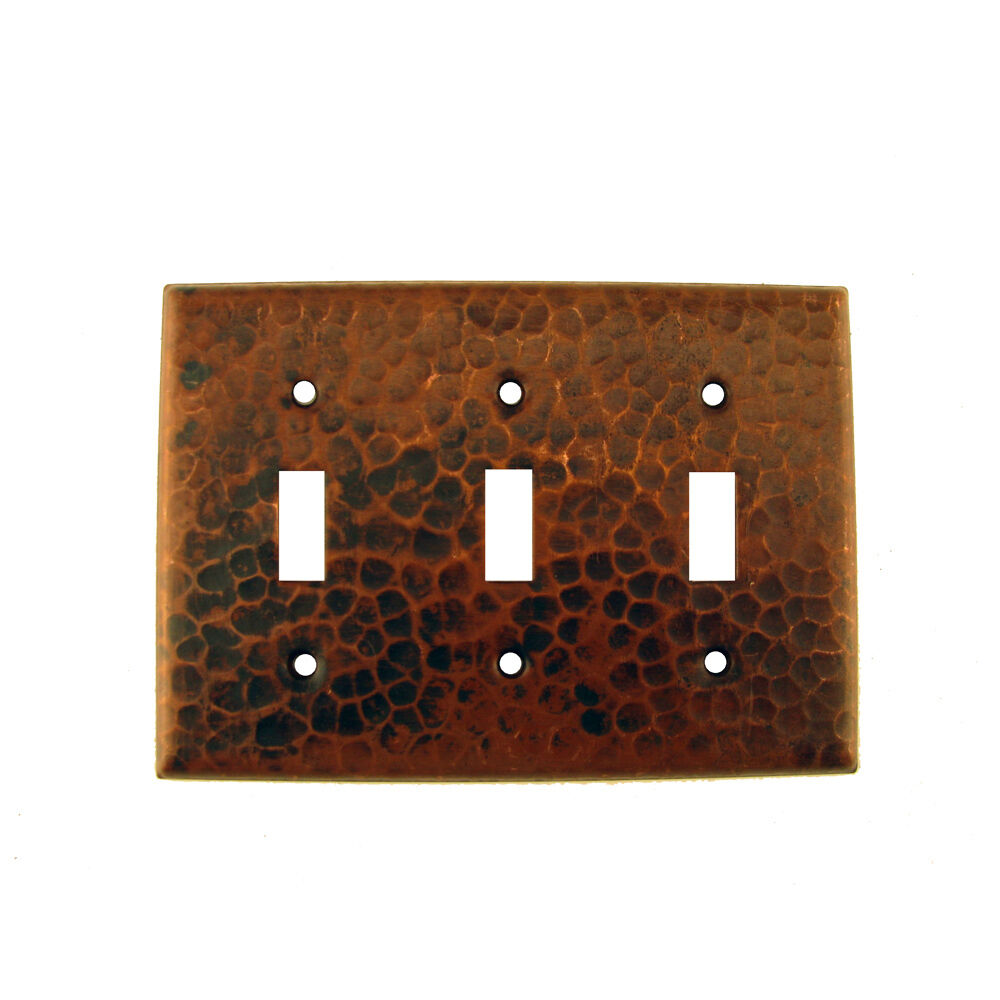 Premier Copper Products St3 Switchplate Triple Toggle