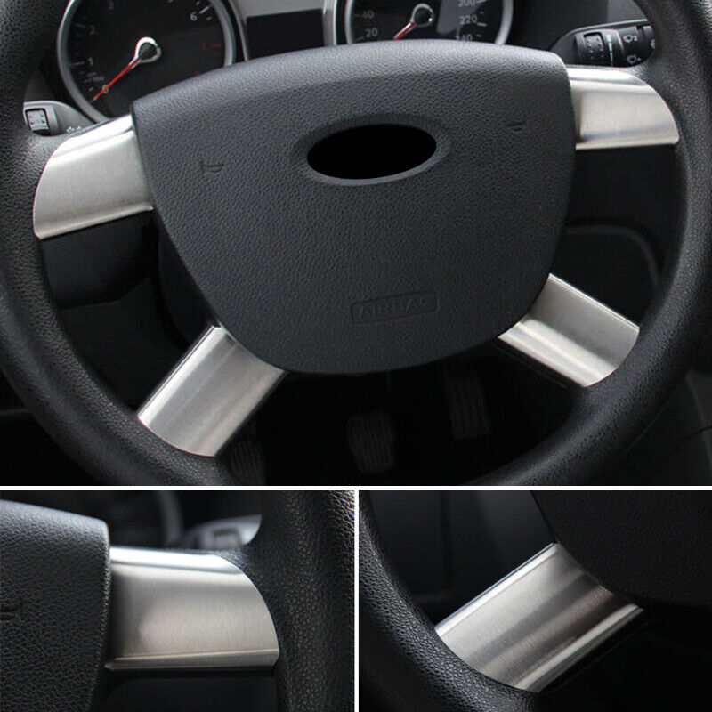 Fit For Ford Focus Mk2 4 Spoke Steering Wheel Insert Trim