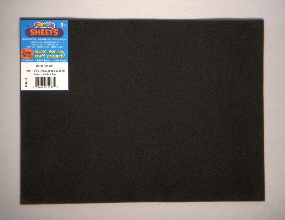9 Inch By 12 Inch By 1 16 Quot Thick 2 Mm Dense Black Foam