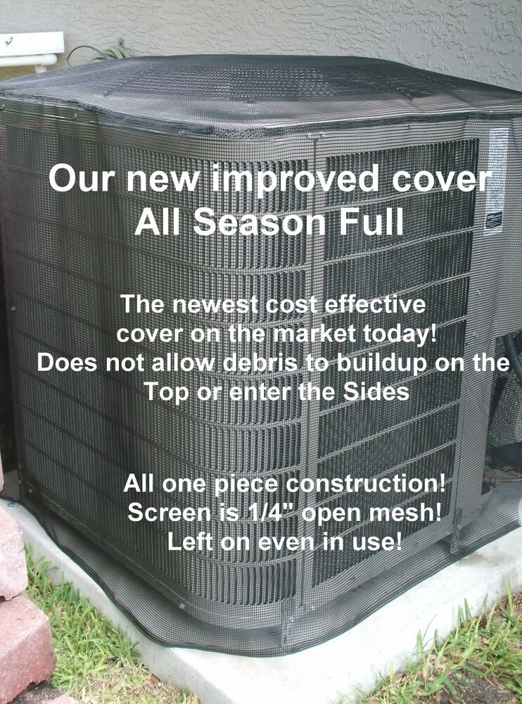 Outdoor central air conditioner cover summer full square blk 32x32x32ht ebay for Central air conditioner covers exterior