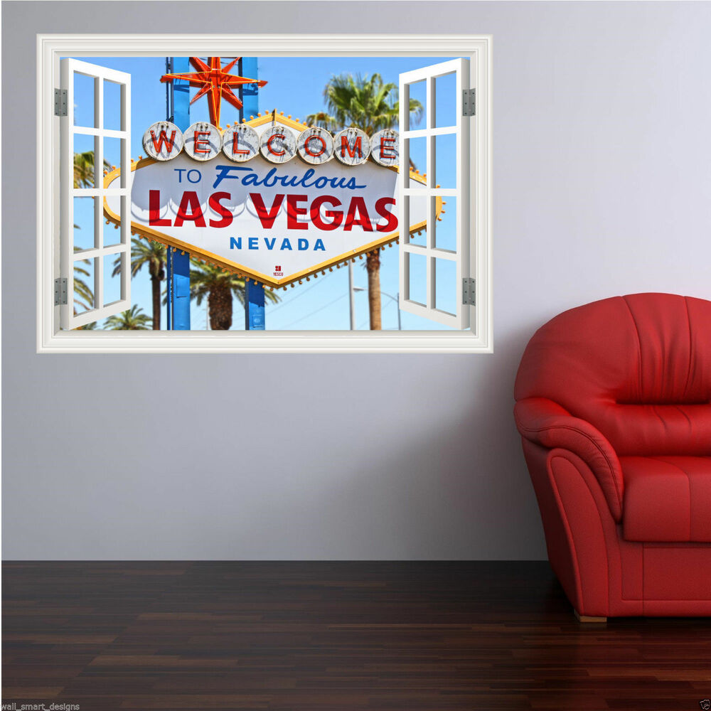 Full colour las vegas nevada usa wall art sticker decal for Decal wall art mural